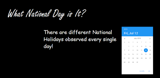 What National Holiday is it? There are different Holidays Observed every day.