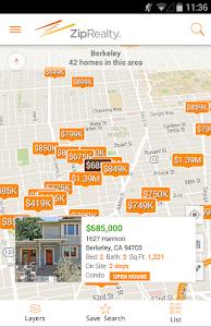 ZipRealty Real Estate & Homes screenshot 0