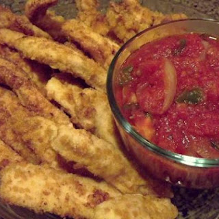 Chicken Strips with Spicy Sauce