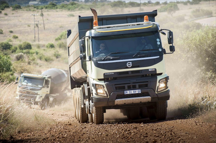 Volvo construction trucks in action.  Picture: VOLVO TRUCKS