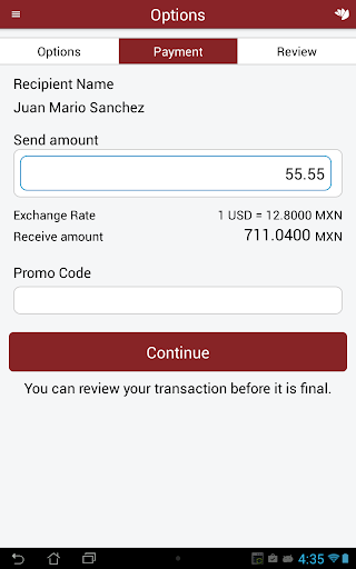 Curacao Money Transfer Screenshot 4