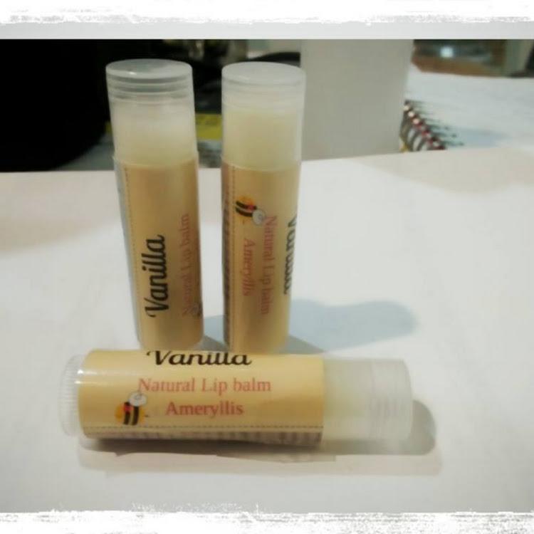lip balm organic vanilla ameryllis by ameryllis nature soap