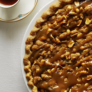 Salted Caramel Peanut Butter Fudge Pie