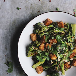 Roasted Broccoli + Crispy Tofu Bowls with a Blood Orange Soy Glaze {print me!}