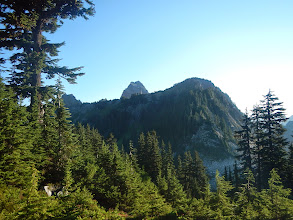 Photo: Mt. Thomson peeks over the ridge