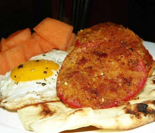 Fried Tomatoes With Seasoned Cracker Crumbs Recipe