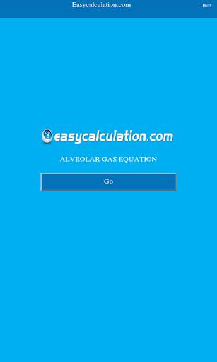 Alveolar Gas Equation Calc