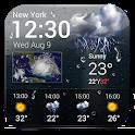 Free weather forecast app& widget . icon