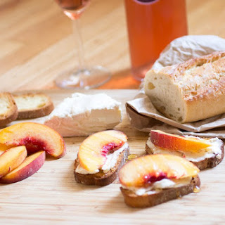 Peaches with Brillat Savarin