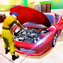 Flying Car Mechanic-Auto Builder Game icon