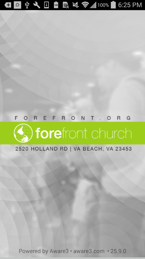 Forefront Church App- screenshot