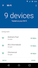Test Wi-Fi speed to wireless devices