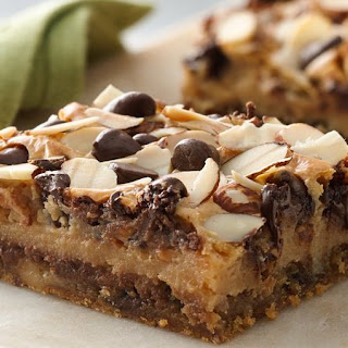Chewy Chocolate Chip-Almond Bars.