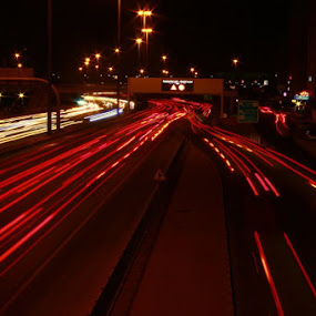 Kuwait Streets by Prasanna Natarajan - City,  Street & Park  Night