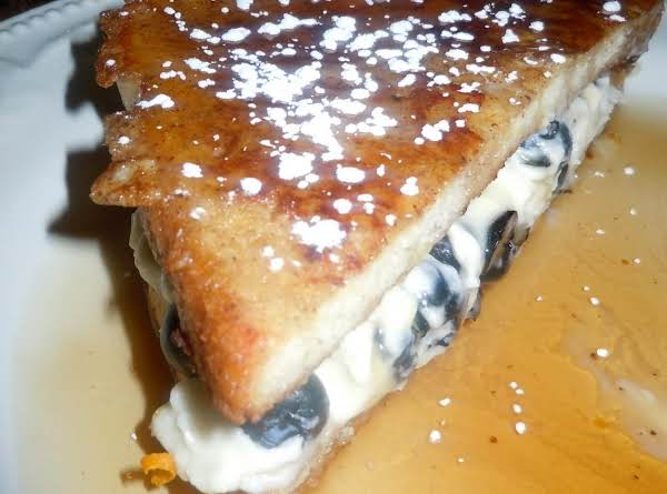 Blueberries & Cream Stuffed French Toast