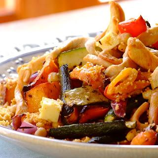 Couscous Salat mit Huhn und Marillen