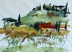Photo: Toskana, Hügel in Montaione, 56x76cm