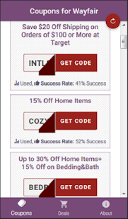 Coupons For Wayfair - Shop All Things Home - náhled