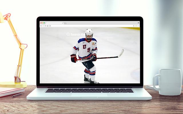 Jack Hughes New Tab NHL Theme