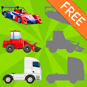Vehicles Shadow Puzzles for Toddlers Free icon