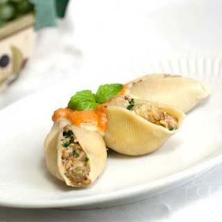 Sausage & Eggplant Stuffed Shells