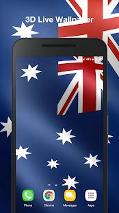3D Australia Flag Live Wallpaper PRO - náhled