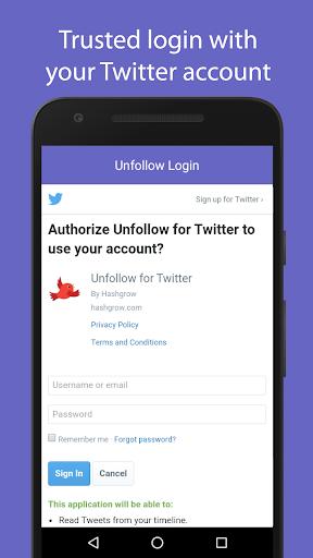 Unfollow for Twitter Pro screenshot 2
