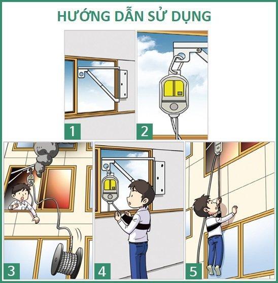 Hướng dẫn sử dụng thang dây thoát hiểm chỉ với 5 bước đơn giản
