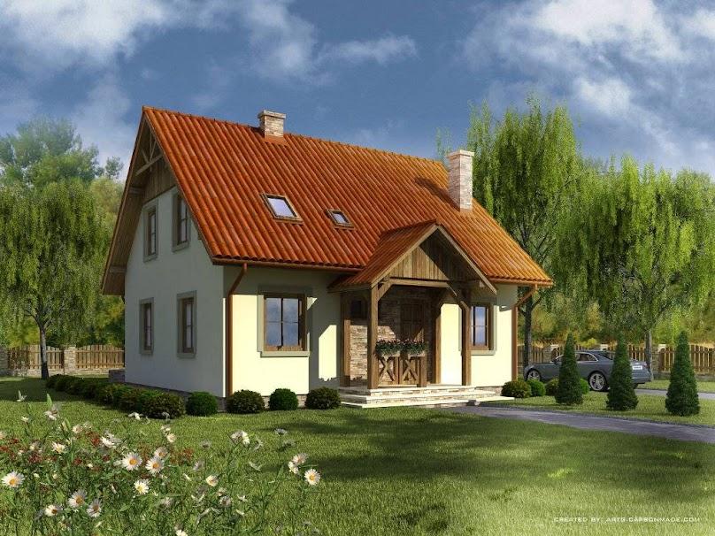 Projekt domu Domek Zimowy szkielet drewniany