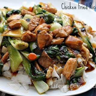 Chicken Fried Rice Noodles with Black Bean Sauce (Chow Ho Fun).