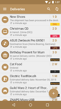 Deliveries Package Tracker