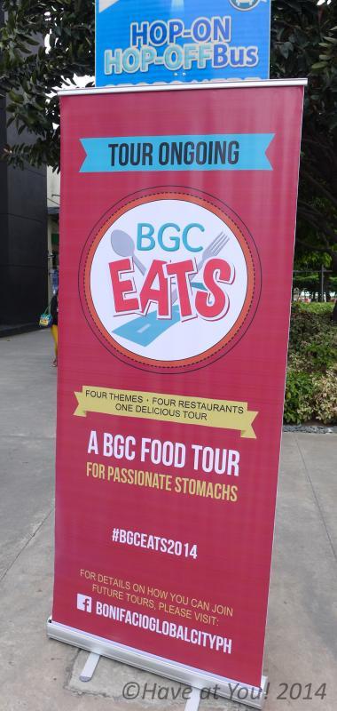 BGC Food Tour 2014 banner