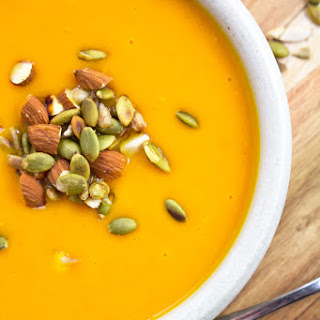 Butternut Squash Soup with Toasted Nuts and Seeds