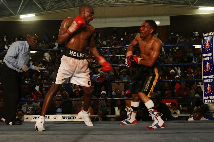 Toto Heleba beat Cebo Ngema during their July 2017 SA title bout at the Orient Theatre in East London.