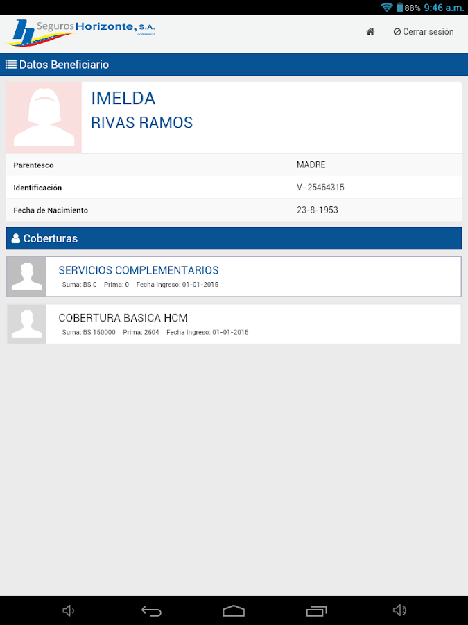 Horimóvil - Intermediario- screenshot