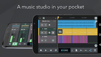 screenshot of n-Track Studio Music DAW