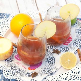 Slow Cooker Apple Cider Pomegranate Wassail