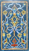 """Photo: Artur Fular """"Arabeska"""", intarsja stiukowa z mozaiką ceramiczną"""