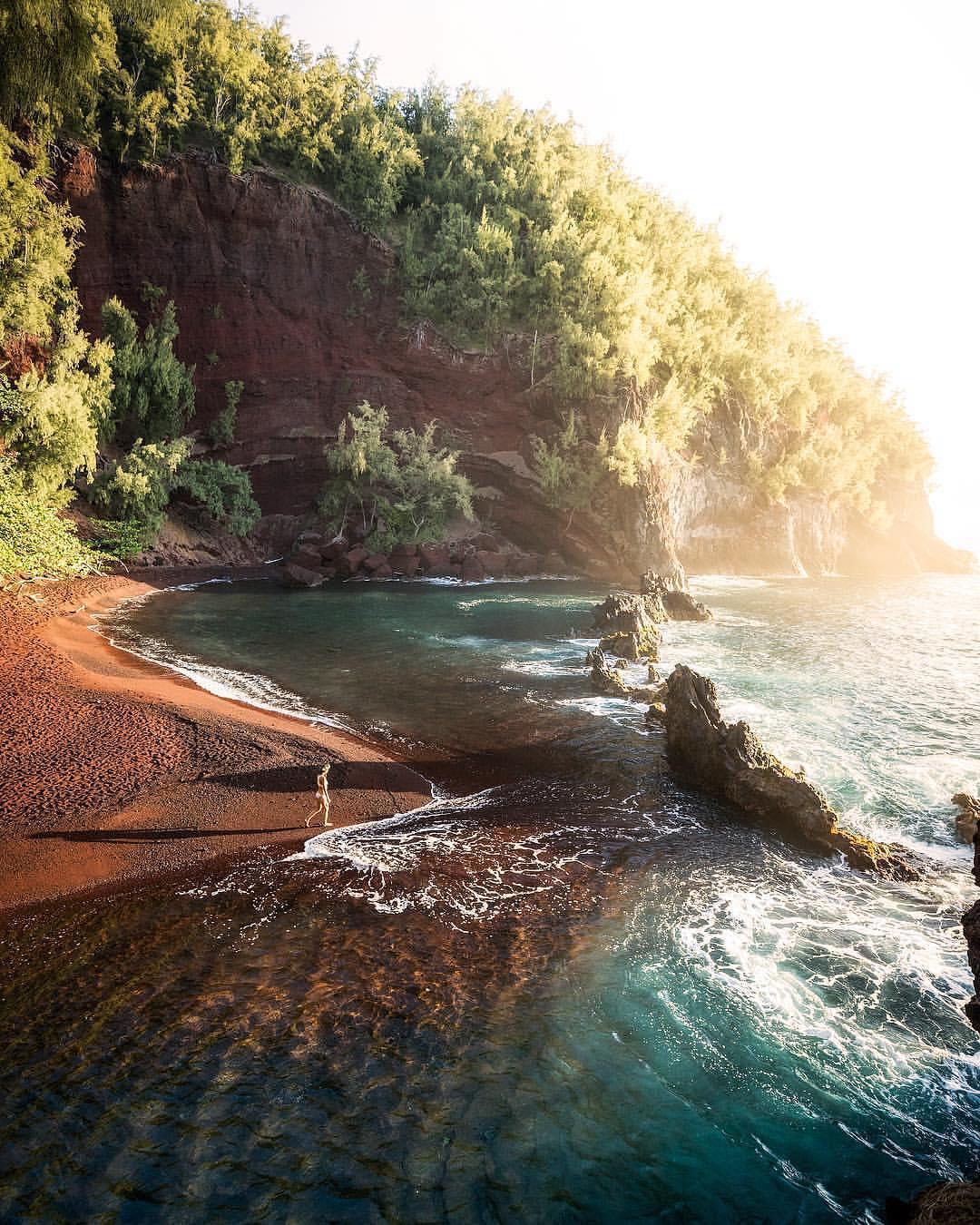 Red Sand Beach / Kaihalulu Beach - best things to do in maui hawaii