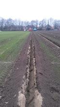 Photo: Weer een drainagesleuf erbij