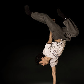 break dancer by John Siryana - People Musicians & Entertainers ( dancing, break dancing, dance )