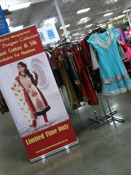 Photo: At first sight, I thought this was halloween costumes, given the time of year. A closer look shows that it is Indian style clothing... Ooops