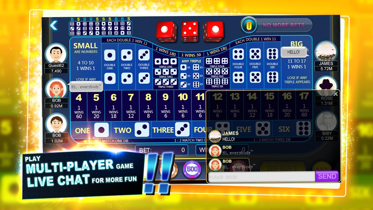 online casino for free sic bo
