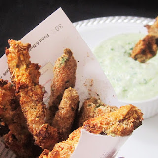 Eggplant Fries with Tzatziki Sauce