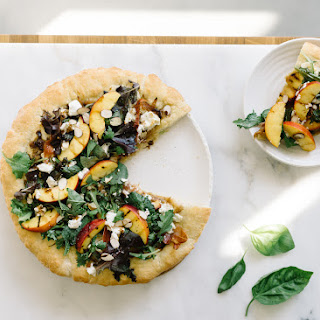 Nectarine + Goat Cheese Pizza Salad