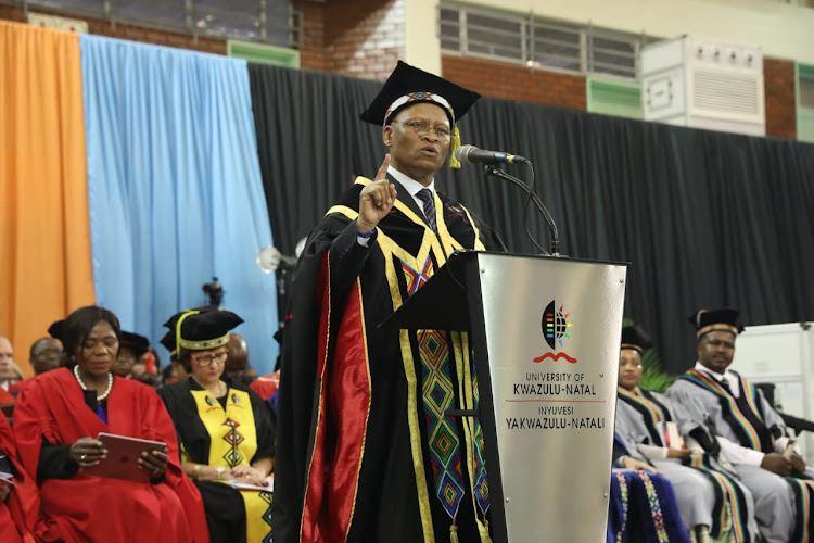 Chief justice Mogoeng Mogoeng speaks at the University of KwaZulu-Natal
