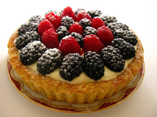 berry, blackberries, dessert, fruit, hong kong, raspberries, recipe, tart, vanilla pasty cream