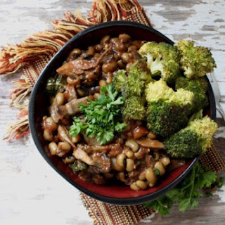 Black Eyed Pea Teriyaki Bowls with Broccoli.