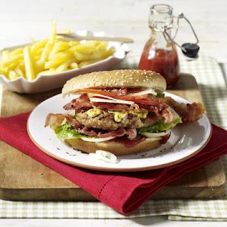 Gourmet Burger with Fries