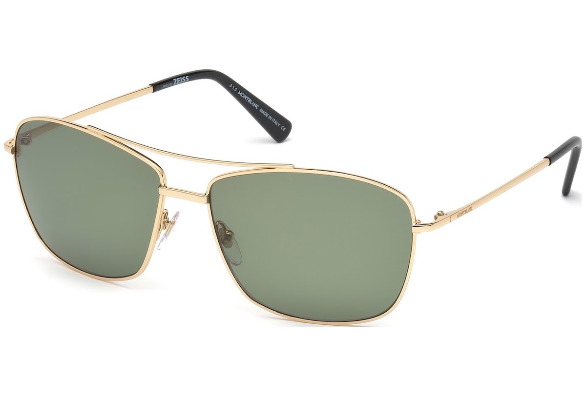 fd45836fad Buy Montblanc MB548S C63 28R (shiny rose gold   green polarized) Sunglasses